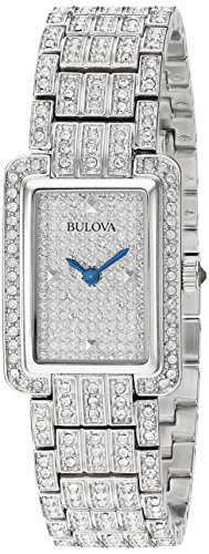 Watch Crystal Pave - Bulova Women's 96L244  Swarovski Crystal Pave Bracelet Watch
