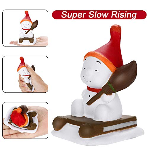 Hot  Scented Squishy Toys Cute Christmas Sled Snowman Squeeze Slow Rising Fruits Scented Stress Relief Toys for Kids and Adults
