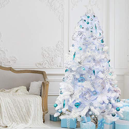 Ki Store Artificial Christmas Tree With Decoration Ornaments Blue