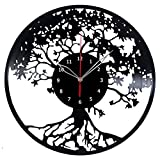 Tree Vinyl Record Wall Clock Fan Art Handmade Decor Unique Decorative Vinyl Clock 12″ (30 cm) Review