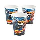 Fun Express - Blaze & Monster Machines 9oz Cups for Birthday - Party Supplies - Licensed Tableware - Licensed Cups - Birthday - 8 Pieces