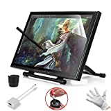 Ugee 19'' Graphics Drawing Tablet Pen Tablet Monitor with Screen Protector and Mini Displayport DP to VGA Adapter For MacBook Pro Air IMAC