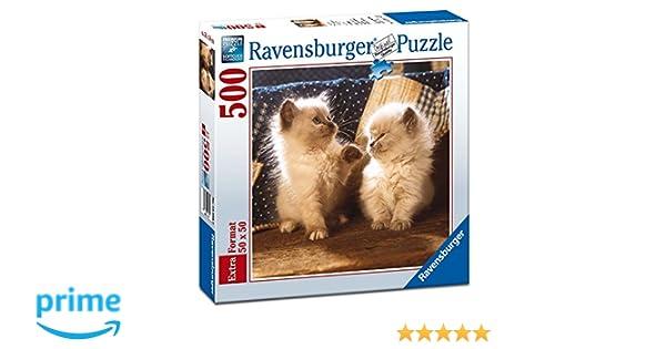 Ravensburger - Cuadrado: gatos himalayos, puzzle de 500 piezas (15220 9): Amazon.es: Juguetes y juegos