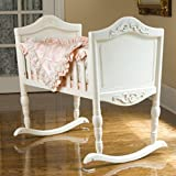 NEW Green Frog Cradle Antique White