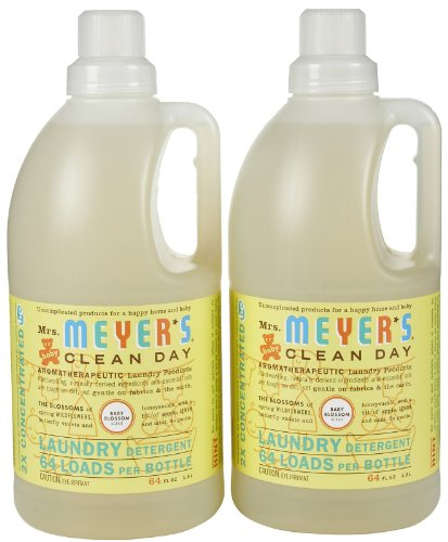 - Mrs. Meyer's Clean Day Laundry Detergent - Baby Blossom - 64 oz - 2 pk