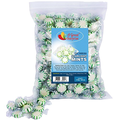 (Mint Candy - Colombina Starlight Mints - Hard Bulk Candy 4 LB)
