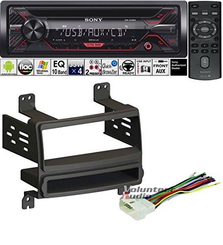 Volunteer Audio Sony CDX-G1200U Double Din Radio Install Kit with CD Player, USB/AUX Fits 2007-2010 Hyundai Elantra (External XM) ()