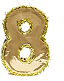 Juvale Small Number 8 Gold Foil Pinata, Eighth