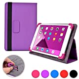 Kobo Arc 7 / 7 HD folio case, COOPER INFINITE ELITE Business School Travel Carrying Portfolio Case Protective Cover Folio with Built-in Stand for Kobo Arc 7 / 7 HD (Purple)