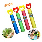 BAIVYLE Summer Water Blaster Soaker Gun for Kids Toys -Super Soaker Foam Water Squirt Toy Shooter Summer Fun Outdoor Swimming Pool Games Toys for Boys Girls Adults (4 PCS)