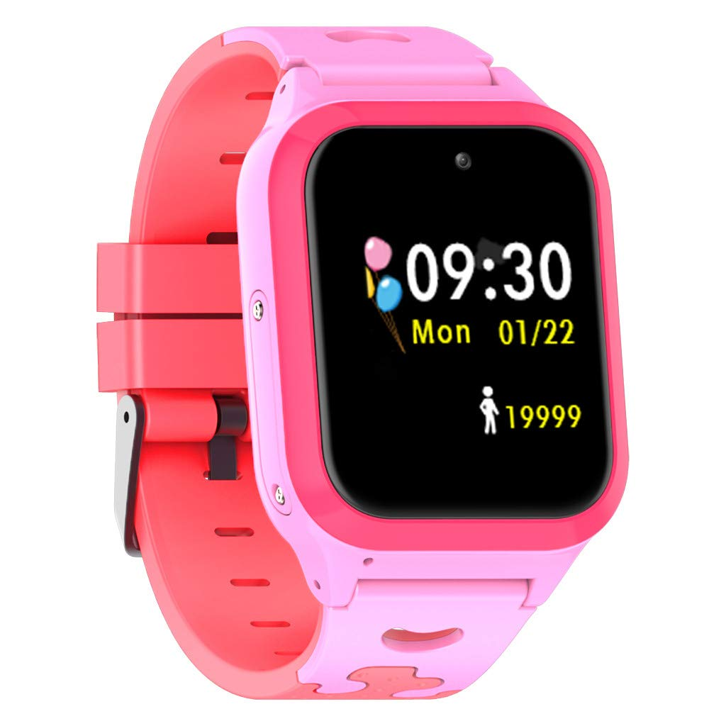 SGYH GPS Positioning Watch Phone for Kids, 2G Sim Smartwatch SOS Safety Anti-Lost Waterproof Tracker Smart Learning Watches for Children Girls Boys Phone Watch for Android iOS (Pink S60) by SGYH (Image #1)