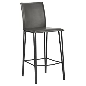 Superb Bouclair Faux Leather And Metal Counter Stool Grey Gmtry Best Dining Table And Chair Ideas Images Gmtryco