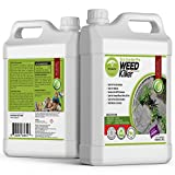 ECO GARDEN PRO - 100% White Vinegar Organic Weed Killer | Kid Safe Pet Safe | Clover Killer For Lawns | Moss Killer | Green Grass & Poison Ivy Killer | Spray Ready Glyphosate FREE Herbicide (1 Gallon)