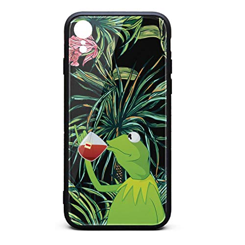 (Phone Case Back Cover for iPhone xr Iphonexr Funny-Green-Frog-Sipping-Tea-Slim Non-Slip 3D Printed PC TPU Shockproof Anti-Scratch)