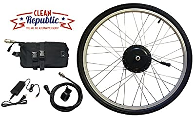 Electric Bike Kit - Clean Republic 350 Watt 36 Volt Hill Topper, Lithium Battery Included