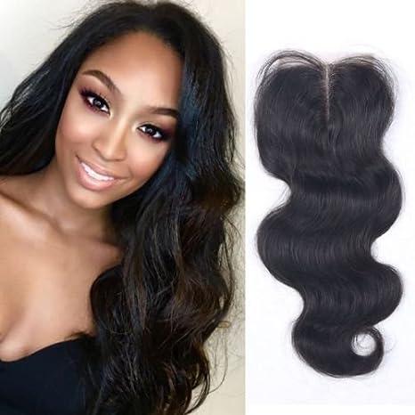 1605798370e3 BLISSHAIR Top Lace Closure Middle Part 3.5 quot  x 4 quot  Bresilien  Vierges Extensions de Cheveux