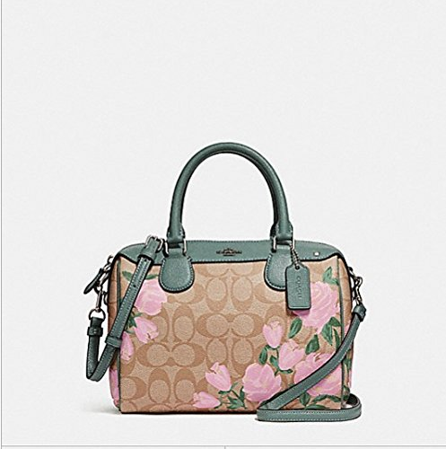 COACH MINI BENNETT SATCHEL WITH CAMO ROSE FLORAL PRINT, - Coach Camouflage Handbags