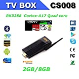 CS008 RK3288 tv stick Quad Core Android 4.4 TV Box 2GB 8GB Built-in Bluetooth/RJ45 Port Support DLNA/Miracast/4K + Remote 4K TV Dongle