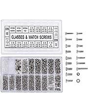 Yosoo 1000 stuks roestvrij stalen brillen, horloges, reparatie schroeven, reserve-kit, set kleine schroeven, moeren, reparatieset
