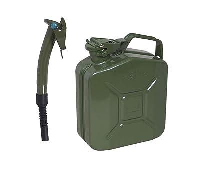 Verde 5L Metal Bidón + Chorro - para Jardinería Cortacésped ...