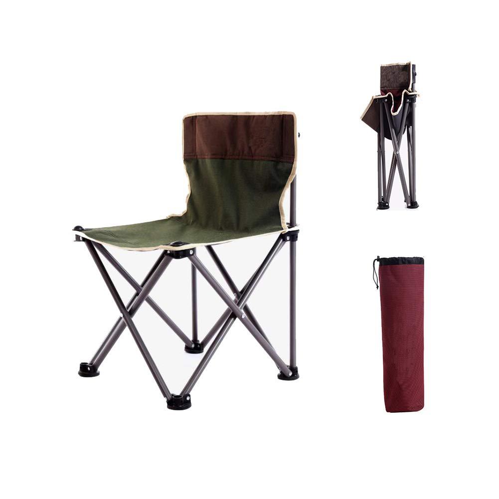 XYHWZY Mini Folding Camping Stool Outdoor Portable Folding Stool Chair Oxford Cloth Seat Portable Folding Stool for BBQ Camping Fishing Travel Hiking Garden Beach,Green by XYHWZY