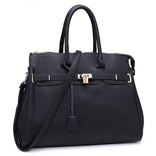 Avashion Ltd - Bolso de tela para mujer marrón L, XL negro