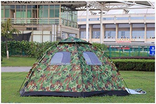 ZHUDJ Zelte, Outdoor 5-8  Herrenchen, Automatische Einrichtung Camping Zelte, Viele Leute Park, Freizeit, Camping, Zelt, Camouflage