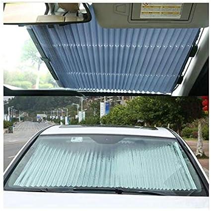 Teekit Retr/áctil Plegable Cubierta de la cortina de la ventana del coche Bloque de sol Anti-UV Shield Cortina