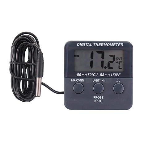 Termómetro digital para nevera, con alarma y función de ...