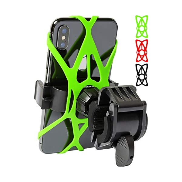 Bike Phone Mount for Any Smart Phone: iPhone X 8 7 6 5 Plus Samsung Galaxy S9 S8...