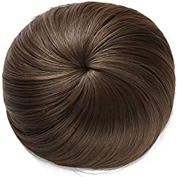 Onedor Synthetic Fiber Hair Extension Chignon Donut Bun Wig Hairpiece (8A - Light Chestnut Brown)