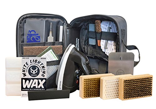 Iron Waxing Snowboard (Demon Complete Ski Tune Kit with Wax and Brush Kit- Snowboard Tuning Kit)