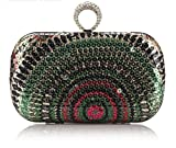 TOPCHANCES Bohemia Style Exquisite Seed Bead Purse Shinning Evening Prom Handbag with Rhinestone (Colorful Clutch Bag)