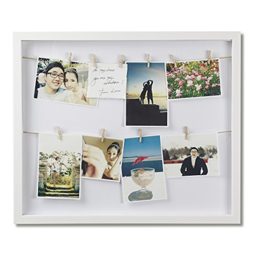 Amazon Com Umbra White Clothesline Picture Hanging Wire