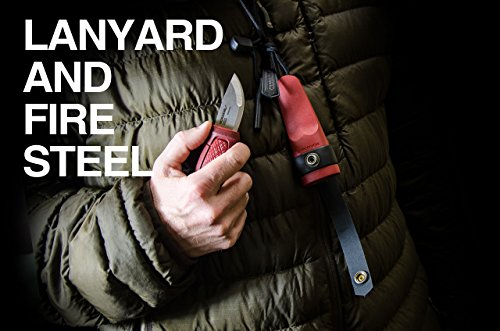 Morakniv Eldris Fixed-Blade Pocket-Sized Knife with Sandvik Stainless Steel Blade, Lanyard and Firestarter, Red, 2.2 Inch by Morakniv (Image #3)