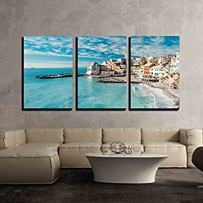 With Expert Quality, Alluring Design, View of Bogliasco Italy Wall Decor x3 Panels