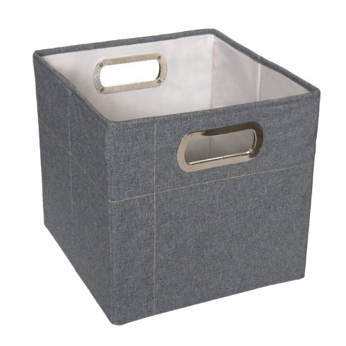 JJ Cole Heather Storage Box, Slate, 11 Multi-Colored
