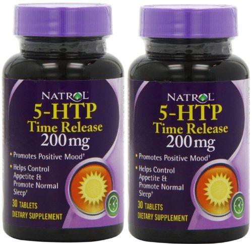 - Natrol: 5-HTP Time Release 200 mg, 30 tabs (2 Pack)