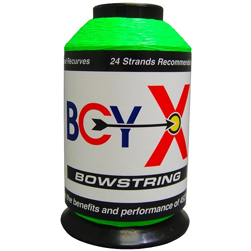 BCY X Bowstring Material, Fluorescent Green, 1/4-Pound Bcy 8190 Bowstring Material