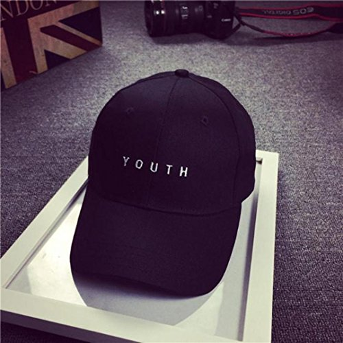 hip Snapback Chicas de Gorra vovotrade algodon negro de béisbol plano bordado chicos negro sombrero hop YU0PYqw
