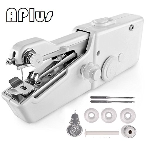 Handheld Sewing Machine, Mini Cordless Handheld Electric Sewing Machine, Quick Handy Stitch Tool for Fabric, Clothing, Kids Cloth Home Travel Use - Handheld Home Adaptor