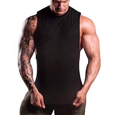 6d676be517 Amazon.com: Male Vest Tank Top,MmNote Muscle Fitness Workout Abdomen Tanks  Slimming Shapewear Microfiber Bodybuilding Stringer: Clothing