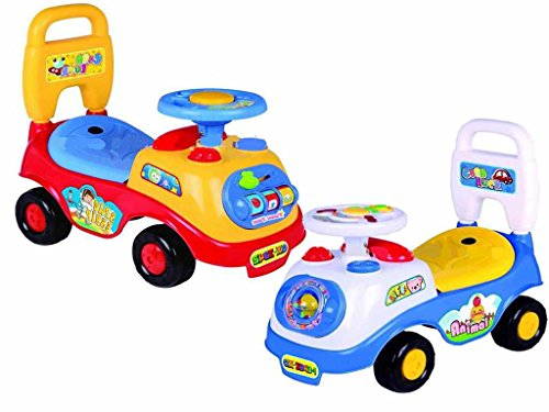 My First Sit and Ride Car Activity Ride On Kids First on Ride Car Boy Girls Easy to Push Toddler Infant Child to drive Car