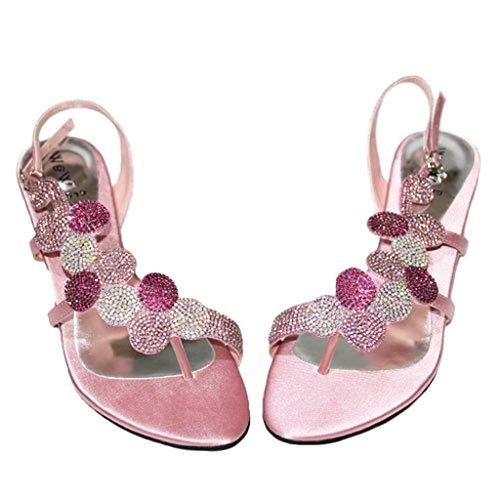 W Verde Blu Baby argento Oro 4 Matrimonio 11 Donna Bridesmaid Baby Arancio Sandali Diamante Taglia amp; Serata Moda Royal Pink Mizra Party Rosa rwZxpHrUq