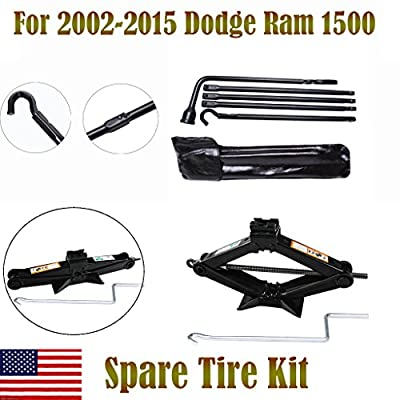 For 2002-2015 Dodge Ram 1500 Spare Tire Tool Kit and 2 Ton Scissor Jack , 2 Year Warranty , US Stock