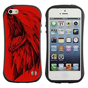 High quality Case for Apple iPhone 5c 5c Dire Wolf Painting
