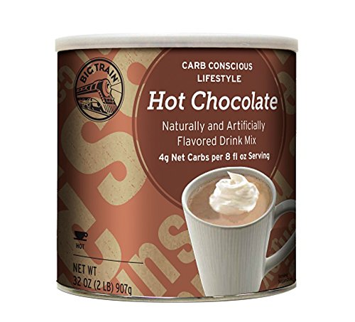 - Big Train Carb Conscious Coffee, Hot Chocolate, 2 Pound, Low Carb Powdered Instant Hot Chocolate Drink Mix, Serve Hot or Cold, Makes Blended Frappe Drinks