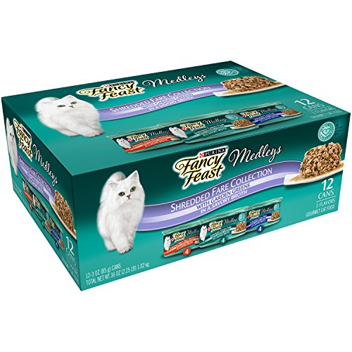 Purina-Fancy-Feast-Shredded-Fare-Collection-Cat-Food-24-3-oz-Cans