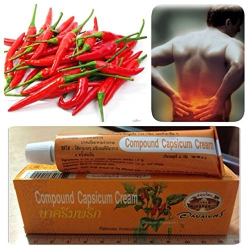 One 25g Tube (1 Tube X Abhaibhubejhr Compound Capsicum Heat Cream Relieves Muscular Pain 25g.)