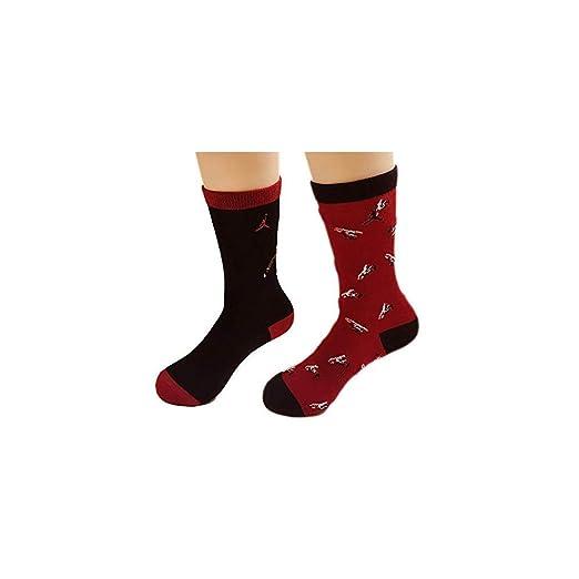 bf445e264dc3e Amazon.com: Nike Air Jordan Retro 10 High Crew Sock 2 Pack: Clothing